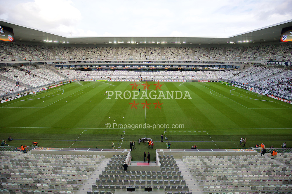 BORDEAUX, FRANCE - Thursday, September 17, 2015: A general view of the Nouveau Stade de Bordeaux ahead of the UEFA Europa League Group Stage Group B match between FC Girondins de Bordeaux and Liverpool. (Pic by David Rawcliffe/Propaganda)