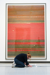 © Licensed to London News Pictures. 24/01/2018. London, UK. Untitled photograph XVIII, 2015 by artist ANDREAS GURSKY is on display as part the first major UK retrospective of the German photographer. The showcase also marks the Haywood galleries 50th anniversary following its two year refurbishment. Photo credit: Ray Tang/LNP