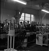 26/09/1962<br /> 09/26/1962<br /> 26 September 1962<br /> Opening of Earl Bottlers Ltd. at South Earl Street, Dublin. Minister for Justice Charles Haughey opened the new premises that produced Sandyman port. Guests on a tour of the production line.