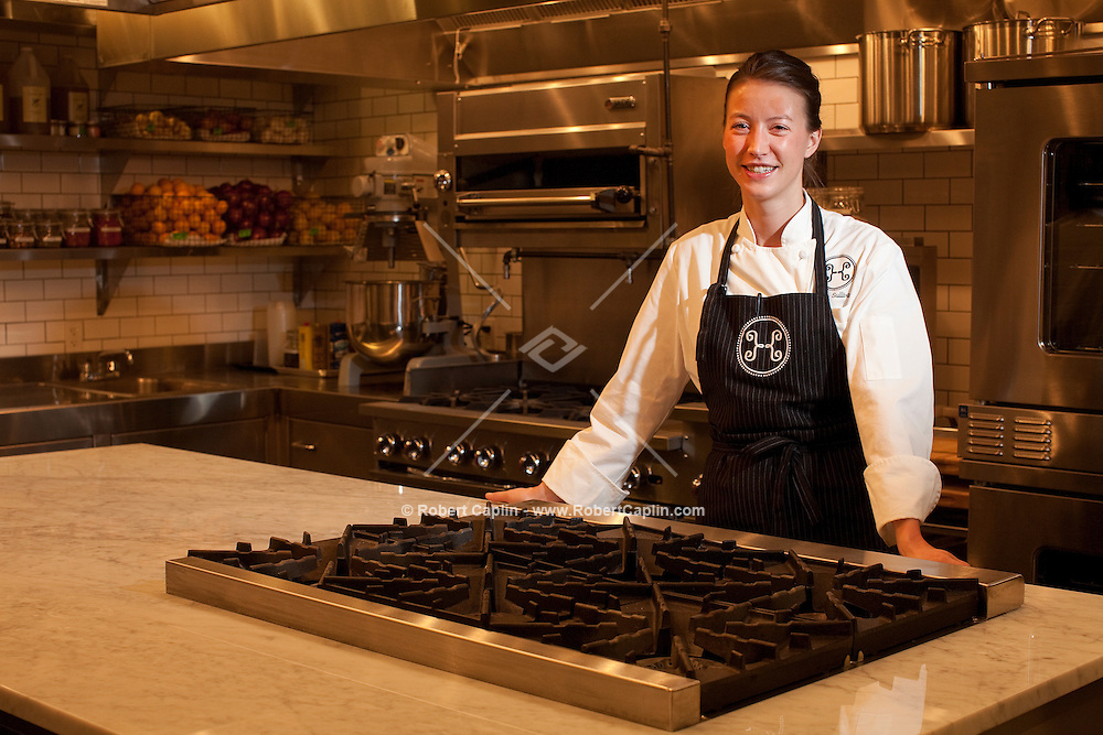 Chef Julia Sullivan of Haven's Kitchen in New York City...Photo by Robert Caplin.