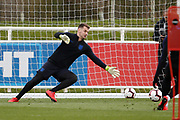 Tom Heaton (Burnley)  during the England training session ahead of the UEFA Euro Qualifier against the Czech Repulbic, at St George's Park National Football Centre, Burton-Upon-Trent, United Kingdom on 19 March 2019.