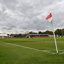 TELFORD COPYRIGHT MIKE SHERIDAN A general view of St James's Park, Brackley during the National League North fixture between Brackley Town and AFC Telford United at St James's Park on Saturday, September 7, 2019<br /> <br /> Picture credit: Mike Sheridan<br /> <br /> MS201920-016
