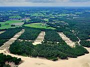 Nederland, Gelderland, Harskamp, 21–06-2020; Harskampsche Zand, Westerheide. Legerplaats Harskamp(Generaal Winkelman Kazerne), militair oefenterrein voorinfanterie - Infanterie Schietkamp (ISK). Schietbanen in de voorgrond.<br /> Harskamp, Army location Harskamp (General Winkelman Barracks), military training area for infantry.<br /> <br /> luchtfoto (toeslag op standard tarieven);<br /> aerial photo (additional fee required);<br /> copyright foto/photo Siebe Swart