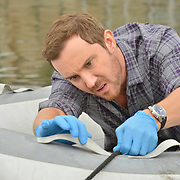 "ROSEWOOD: Sam Huntington in the ""Boatopsy & Booty"" episode of ROSEWOOD airing Thursday, Oct. 13 (8:00-8:59 PM ET/PT) on FOX. ©2016 Fox Broadcasting Co. CR: Lisa Rose/FOX"