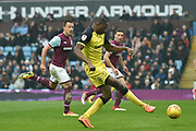 Burton Albion striker Lucas Akins (10) shoots during the EFL Sky Bet Championship match between Aston Villa and Burton Albion at Villa Park, Birmingham, England on 3 February 2018. Picture by Richard Holmes.
