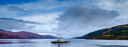 The Corran Car ferry in Loch Linnhe Highlands of Scotland<br /> <br /> (c) Andrew Wilson | Edinburgh Elite media