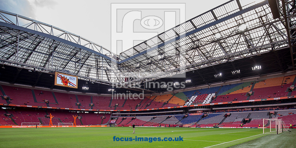 view of the interior of the stadiun before the 2018 FIFA World Cup Qualifying match at Amsterdam Arena, Amsterdam<br /> Picture by Joep Joseph Leenen/Focus Images Ltd +316 5261929<br /> 03/09/2017<br /> ***NETHERLANDS OUT***