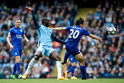Yaya Toure of Manchester City challenges Shinji Okazaki of Leicester City - Mandatory by-line: Matt McNulty/JMP - 13/05/2017 - FOOTBALL - Etihad Stadium - Manchester, England - Manchester City v Leicester City - Premier League