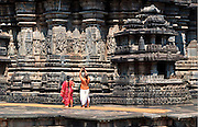 Ruins of Temples of Hoysala Empire, Karnataka, India.