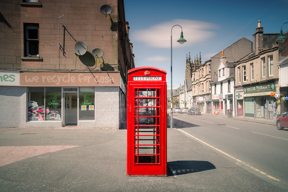 Kirkintilloch telephone kiosk<br />