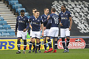GOAL Jed Wallace celebrates scoring 1-0 during the The FA Cup 4th round match between Millwall and Rochdale at The Den, London, England on 27 January 2018. Photo by Daniel Youngs.