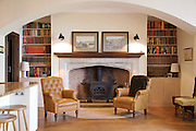 The Snug, Pickwell Manor, Georgeham, North Devon, UK.<br /> CREDIT: Vanessa Berberian for The Wall Street Journal<br /> HOUSESHARE