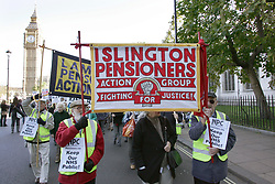 Lambeth & Islington Pensioners Action Groups on Save the NHS demo; Westminster; London 1 Nov 2006 UK