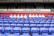 Bolton hold Act of Remembrance EFL Sky Bet League 1 match between Bolton Wanderers and Fleetwood Town at the University of  Bolton Stadium, Bolton, England on 2 November 2019.