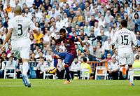 """Spanish  League""- match Real Madrid Vs FC Barcelona- season 2014-15 - Santiago Bernabeu Stadium - Neymar(FC Barcelona) in action during the Spanish League match against Real Madrid(Photo: Guillermo Martinez / Bohza Press / Alter Photos)"