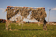 A flood damaged soccer field in the Naselje Dobor neighborhood of Modrica, Bosnia and Herzegovina.<br /> <br /> Photo by Matt Lutton / Boreal Collective<br /> <br /> Flooding in Bosnia and Herzegovina.