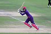 Georgia Adams of Loughborough Lightning batting during the Kia Women's Cricket Super League semi-final match between Loughborough Lightning and Southern Vipers at the 1st Central County Ground, Hove, United Kingdom on 1 September 2019.