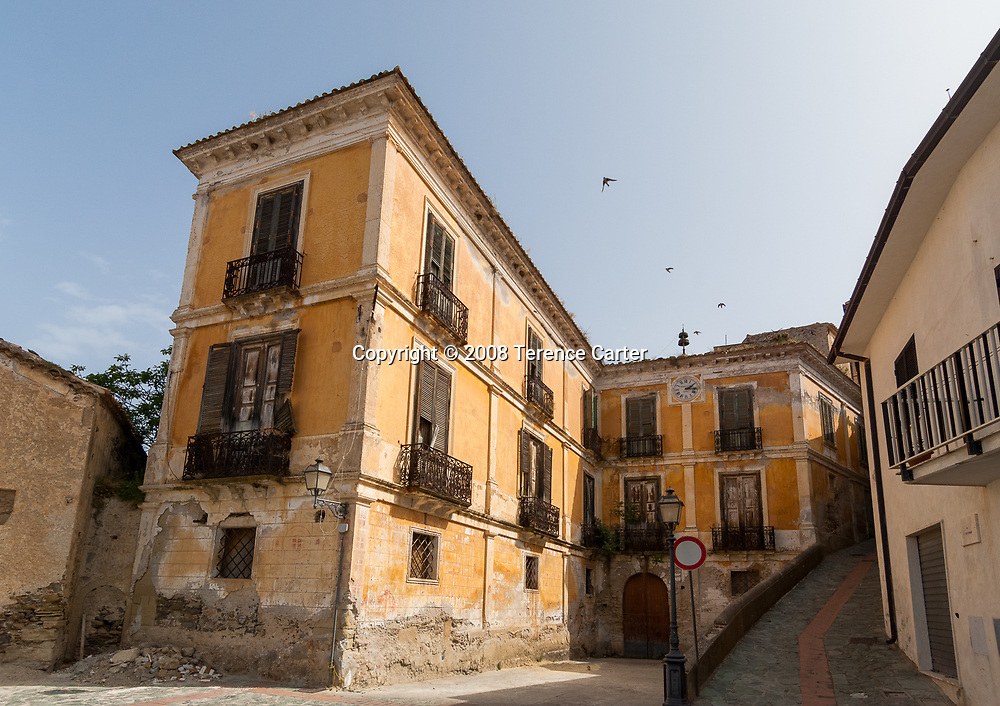 Belmonte Calabro's old streets.