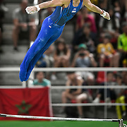 United States gymnast Danell Leyva won the silver medal in the men's individual high bar apparatus final on Tuesday at the Rio Olympic Arena during the 2016 Summer Olympics Games in Rio de Janeiro, Brazil.