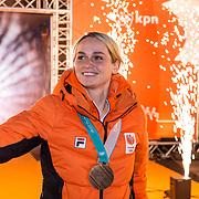 NLD/Amsterdam/20180226 - Thuiskomst TeamNL, Irene Schouten