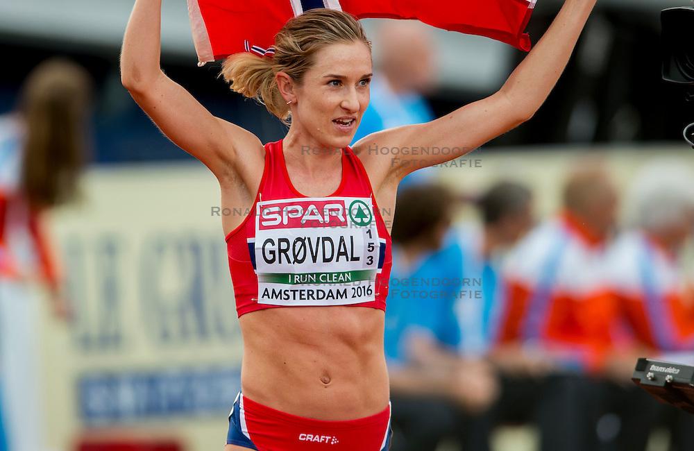 06-07-2016 NED: European Athletics Championships, Amsterdam<br /> Karoline Bjerkeli Grovdal NOO