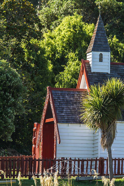 Maori church, Akaroa Peninsula, New Zealand
