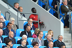 9th September 2017 - Premier League - Manchester City v Liverpool - Sadio Mane of Liverpool watches the remainder of the match from a block behind the Directors' Box - Photo: Simon Stacpoole / Offside.