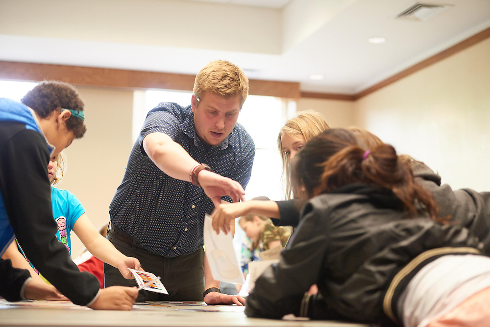 Activity; Teaching; Speaking; Buildings; Center for the Arts CFA; Location; Inside; Outside; People; Student Students; Spring; May; Time/Weather; day; Type of Photography; Candid; UWL UW-L UW-La Crosse University of Wisconsin-La Crosse; Student led workshop for Emerson Elementary Students; Par Mora was the guest speaker