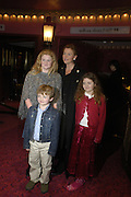 Eimear Montgomerie with her children Cameron, Olivia  ( Olivia) and Venetia. Mary Poppins Gala charity night  in aid of Over the Wall. Prince Edward Theatre. 14 December 2004. ONE TIME USE ONLY - DO NOT ARCHIVE  © Copyright Photograph by Dafydd Jones 66 Stockwell Park Rd. London SW9 0DA Tel 020 7733 0108 www.dafjones.com