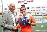 Den Bosch  -  Player of the Match , Frederique Matla (Ned)    na  de Pro League hockeywedstrijd dames, Nederland-Belgie (2-0).     COPYRIGHT KOEN SUYK