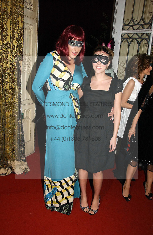 Left to right, AMY SACCO and SCARLETT JOHANSSON at the 2006 Moet & Chandon Fashion Tribute in honour of photographer Nick Knight, held at Strawberry Hill House, Twickenham, Middlesex on 24th October 2006.<br /><br />NON EXCLUSIVE - WORLD RIGHTS