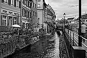 April 22, 2014<br /> Petit-France, an area of Strasbourg on the Grande île (Main Island) where the river L'ill splits and runs through a small area of medieval half-timbered houses and baroque sandstone buildings. Strasbourg, France.<br /> ©2014 Mike McLaughlin<br /> www.mikemclaughlin.com<br /> All Rights Reserved