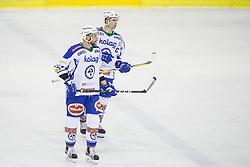 Jan Urbas, Eric Hunter (EC VSV) during ice-hockey match between HDD Olimpija Ljubljana and EC VSV in EBEL League 2016/17, on February 19, 2017 in Hala Tivoli, Ljubljana, Slovenia. Photo by Vid Ponikvar / Sportida