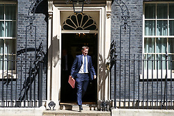 © Licensed to London News Pictures. 14/05/2019. London, UK. Jeremy Hunt - Foreign Secretary departs from No 10 Downing Street after attending the weekly Cabinet meeting. Photo credit: Dinendra Haria/LNP
