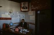 Afghanistan. the communist regime  / after the coup d 'etat of Afizoulah Amin against Taraki photo of the new leader in a school  kabul  Afghanistan  / photo du nouveau leader Afizoulah Amin dans une ecole. Apres le coup d etat de  contre Taraki.  Le regime communiste.   Kaboul  Afghanistan  / nb 26700 25 / 26700 / L0055659