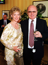 MR & MRS PETER SAVILL he is chairman of the British Horseracing Board, at a luncheon in Berkshire on 24th July 1999.MUL 16