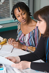 Women learning at adult education centre,