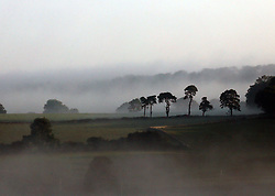 © Licensed to London News Pictures. 30/09/2014. Somerset, UK Early morning sunshine in Oakhill in Somerset near Shepton Mallet today 30th September 2014. Photo credit : Jason Bryant/LNP