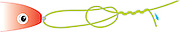 A vector illustration of a Mono Loop Knot