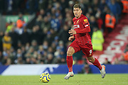 Liverpool forward Roberto Firmino (9) during the Premier League match between Liverpool and Brighton and Hove Albion at Anfield, Liverpool, England on 30 November 2019.