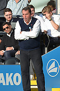 Martin Allen shouts instructions to his team during the Sky Bet League 2 match between Barnet and Dagenham and Redbridge at Hive Stadium, London, England on 26 September 2015. Photo by Ian Lyall.