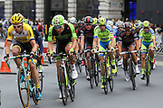 Riders during the London Stage of the Aviva Tour of Britain, Regent Street, London, United Kingdom on 13 September 2015. Photo by Ellie Hoad.