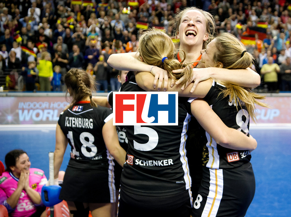 BERLIN - Indoor Hockey World Cup<br /> Final: Netherlands - Germany<br /> Germany wins the world championship.<br /> foto: Franzisca Hauke.<br /> WORLDSPORTPICS COPYRIGHT FRANK UIJLENBROEK