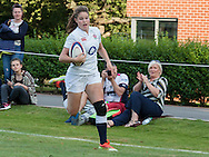 Jess Breach in action, U20 England Women v U20 Canada Women at Trent College, Derby Road, Long Eaton, England, on 26th August 2016