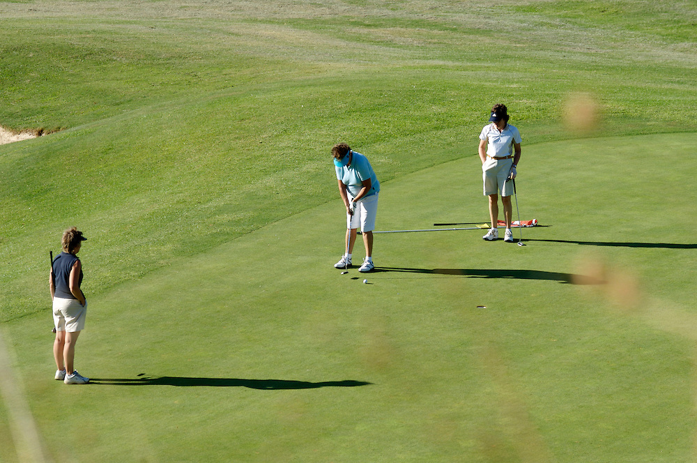 Lady golfers on a Costa del Sol golf course