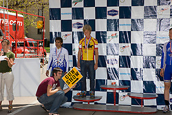 """Alex """"Gun Show"""" Boyd (Midwestern State University). Podium awards were given out after The 2008 USA Cycling Collegiate National Championships Criterium event held in Fort Collins, CO on May 11, 2008."""