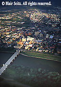 Aerial, Susquehanna River, Wilkes-Barre town