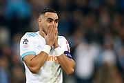Olympique de Marseille's French forward Dimitri Payet gestures during the French Championship Ligue 1 football match between Olympique de Marseille and AS Monaco on January 28, 2018 at the Orange Velodrome stadium in Marseille, France - Photo Benjamin Cremel / ProSportsImages / DPPI