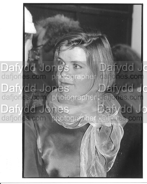 Charlotte Faber. London. 1987 approx. © Copyright Photograph by Dafydd Jones 66 Stockwell Park Rd. London SW9 0DA Tel 020 7733 0108 www.dafjones.com