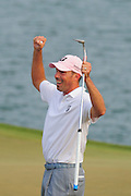 Matt Kuchar celebrates winning the Players Championship at the TPC Sawgrass on May 13, 2012 in Ponte Vedra, Fla. ..©2012 Scott A. Miller..